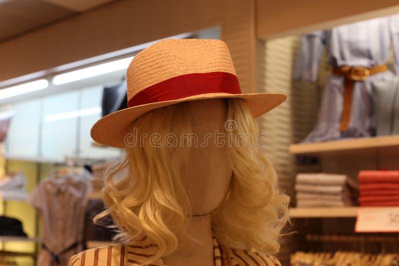 En hatt ?r en hatt med en svans och vanligt med ett br?tte arkivbilder
