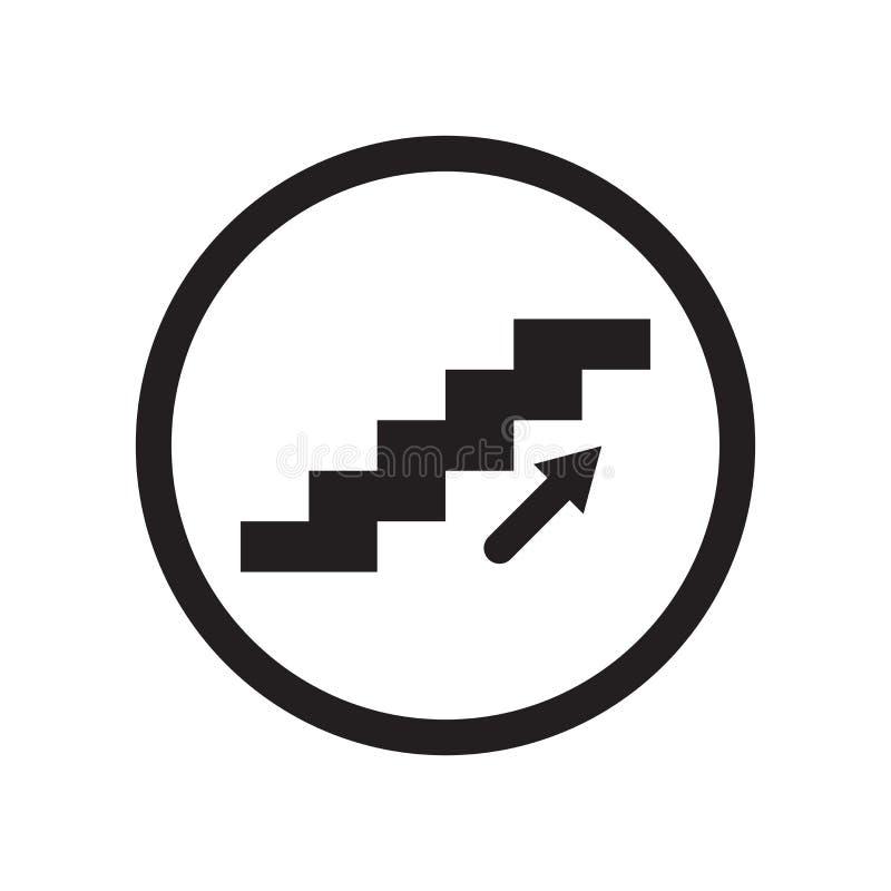 En haut signe et symbole de vecteur d'icône de signe d'isolement sur le fond blanc, en haut concept de logo de signe illustration libre de droits