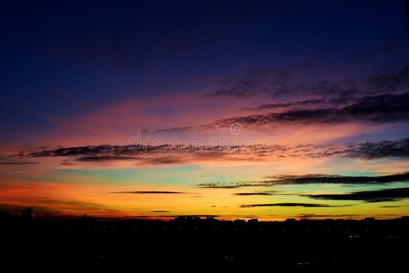 En himmel av färger royaltyfri fotografi