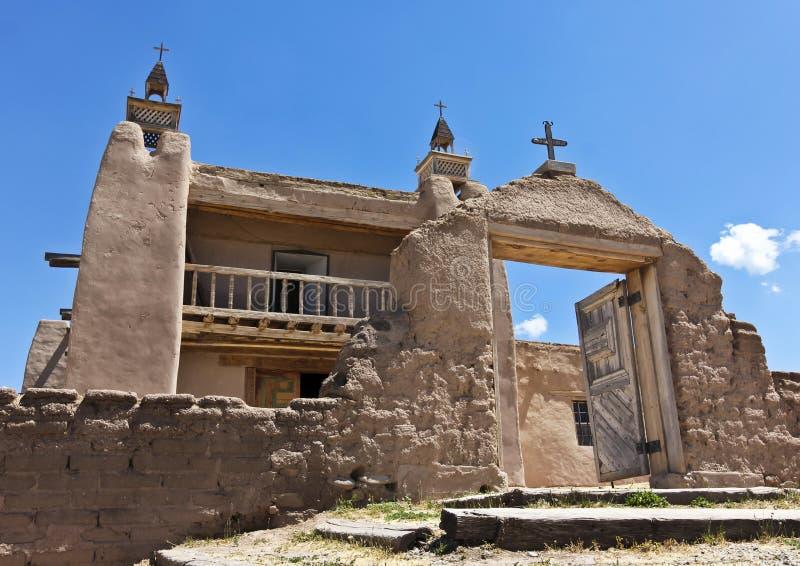 En historisk kyrka, San José de Gracia, i Las Trampas arkivbilder