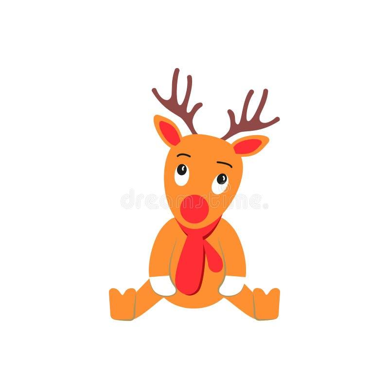En hjort av dagen f?r julsymbolsferie vektor illustrationer