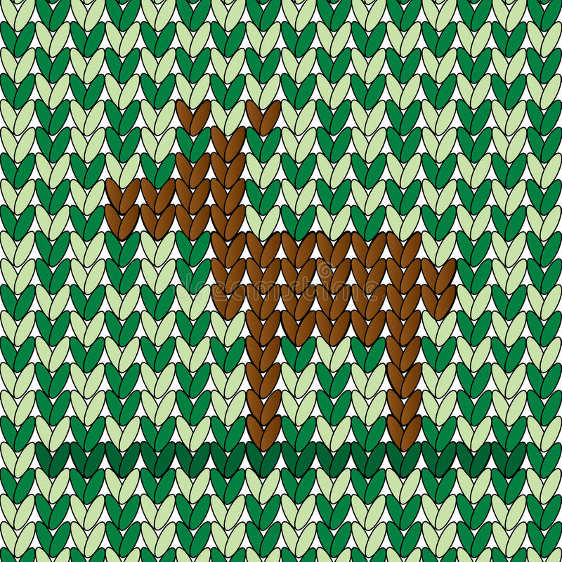 En hjort i vävd modell vektor illustrationer