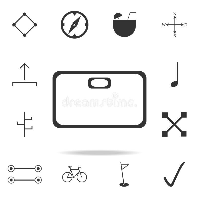 en hyllasymbol Detaljerad uppsättning av rengöringsduksymboler Högvärdig kvalitets- grafisk design En av samlingssymbolerna för w stock illustrationer