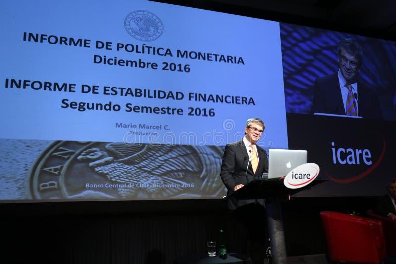 En Icare de Presentación de Mario Marcel Diciembre 2016 fotos de archivo