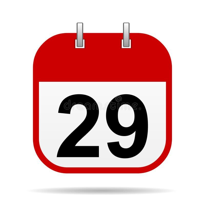 29 en icono del calendario libre illustration
