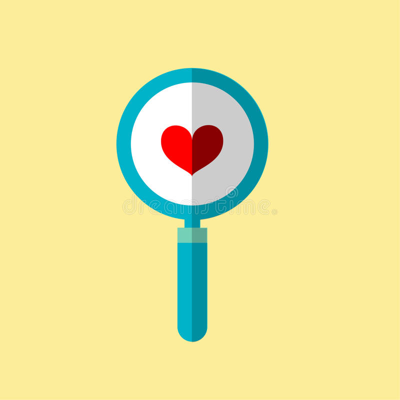 En illustration är en hosta, en hjärtaförstoringsapparat Kan användas i olika uppgifter royaltyfri illustrationer