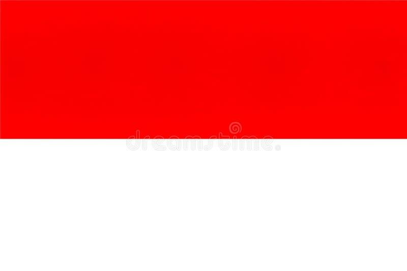 En illustration av den Indonesien flaggan royaltyfri illustrationer