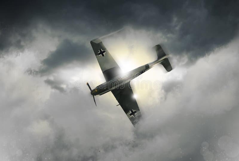En illustration av en kämpe för tysk för världskrig 2 royaltyfri bild