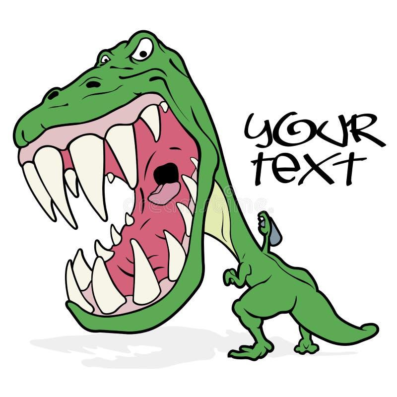 Tyrannosaurushandstilgrafitti royaltyfri illustrationer