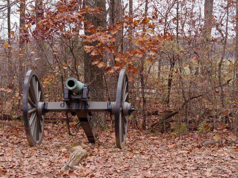 En inbördeskrigkanon från Gettysburg, Pennsylvania arkivfoton