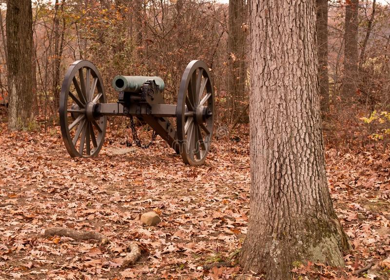En inbördeskrigkanon från Gettysburg, Pennsylvania royaltyfri fotografi