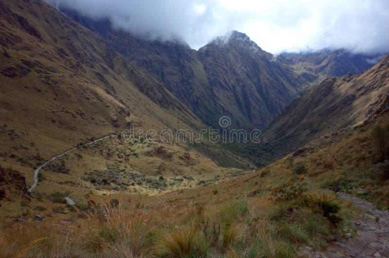 En Inca Trail imagenes de archivo