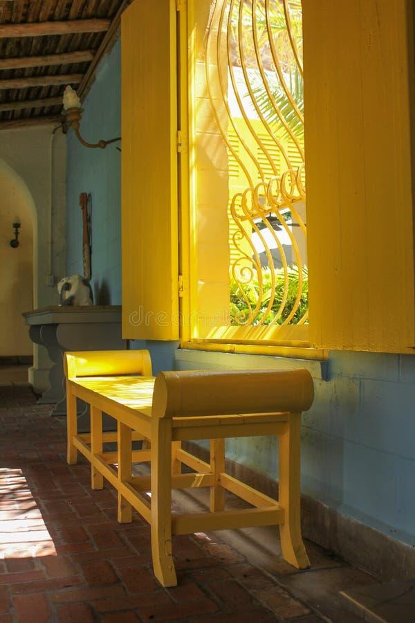 En inre sikt av det Bonnett huset i Fort Lauderdale royaltyfri bild