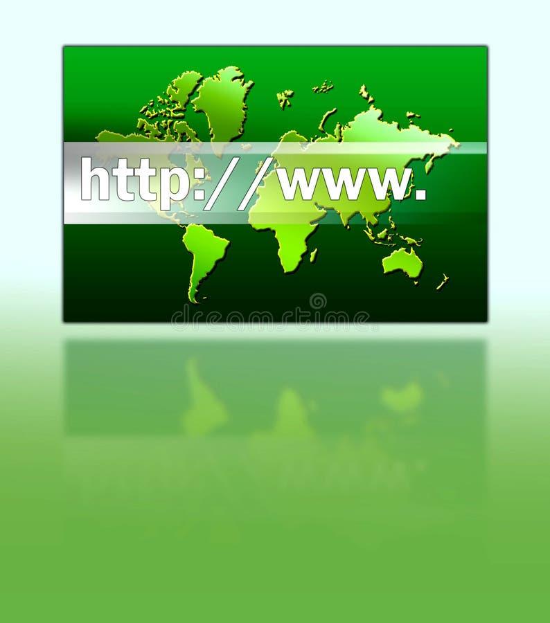 En internet adress royaltyfria foton