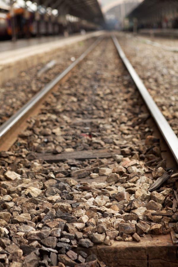 En järnväg royaltyfri foto