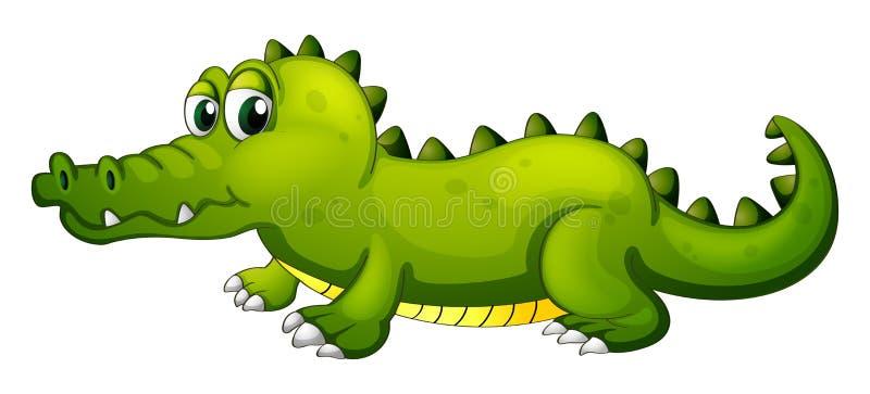 En jätte- grön krokodil vektor illustrationer