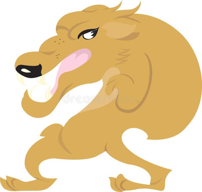 En jackal royaltyfri illustrationer