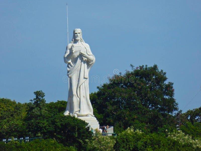 en jesus staty i Kuba royaltyfri fotografi