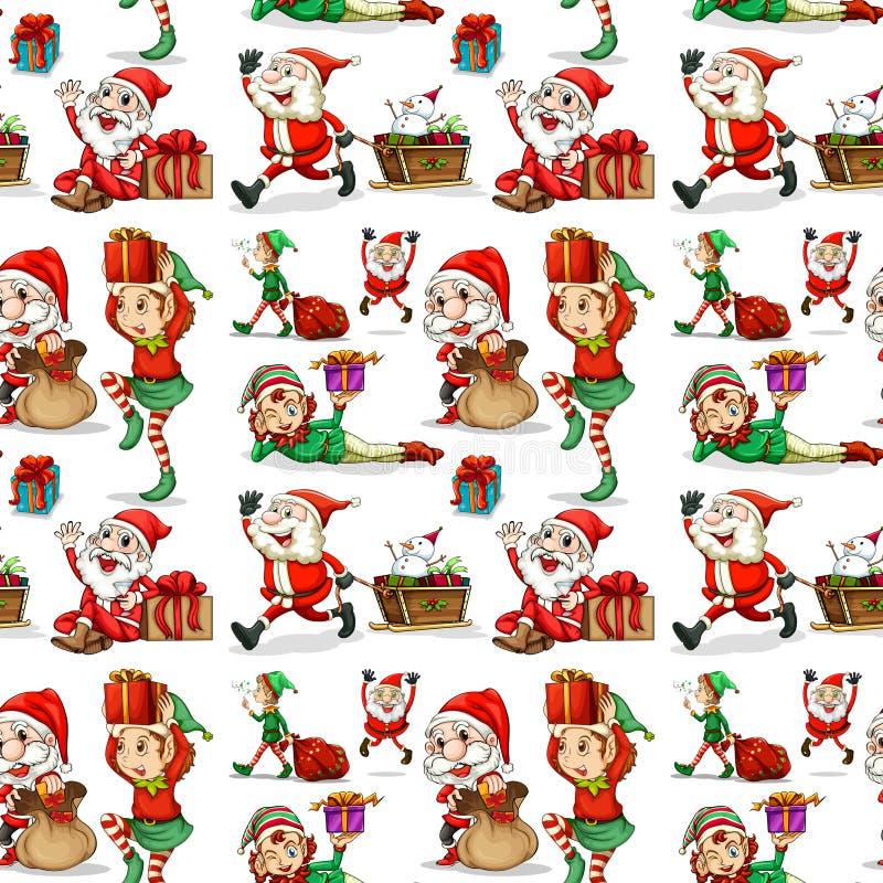 En juldesign med älvor stock illustrationer