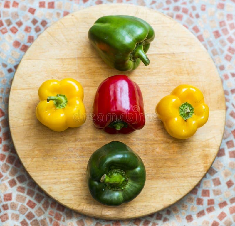 En kökaffisch - nya peppar royaltyfria foton