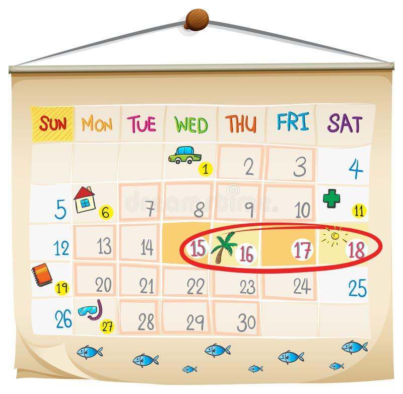 En kalender stock illustrationer