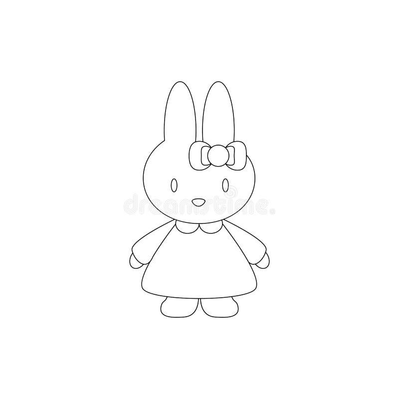 En kaninleksaksymbol för behandla som ett barn gåvan royaltyfri illustrationer