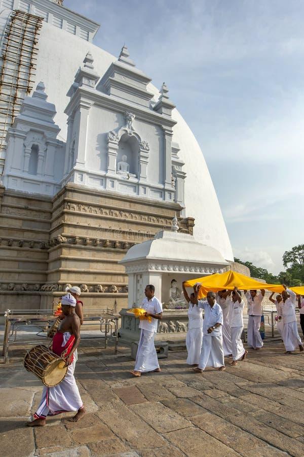 En Kapruka Poojawa ceremoni royaltyfria foton