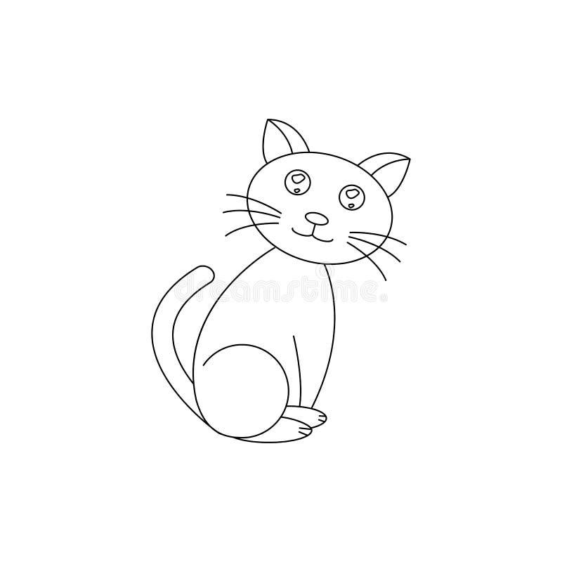 En katt av det bra djuret för symbolshusdjur royaltyfri illustrationer