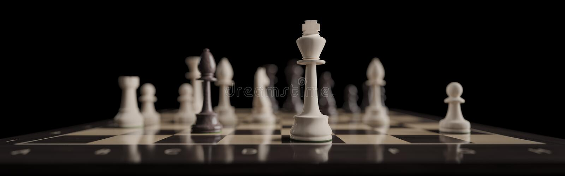 En klassisk schackbrädelek som ett baner royaltyfri bild