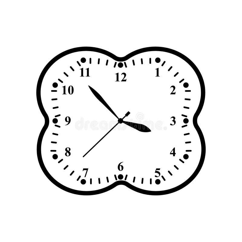En klockasymbol i översiktstidminut royaltyfri illustrationer
