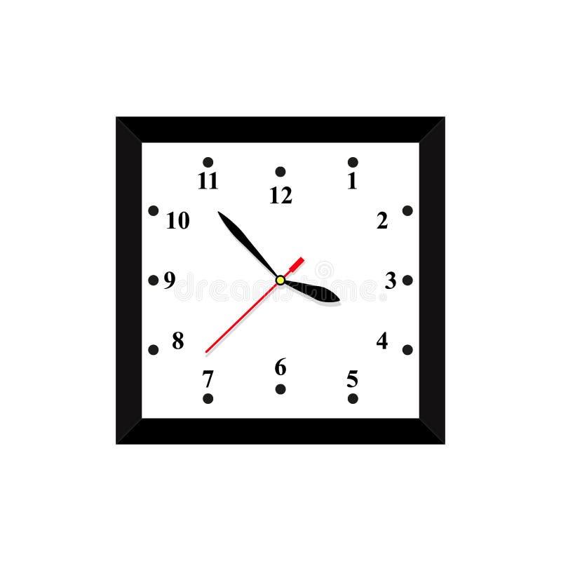 En klockasymbol i färgtidminut vektor illustrationer