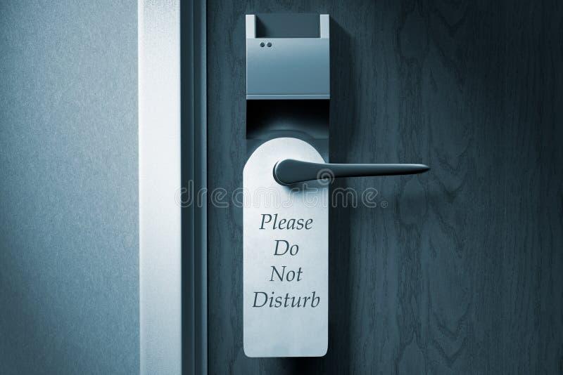 En knopp av en hotelldörr med ` Please störer inte `-etiketten arkivfoton