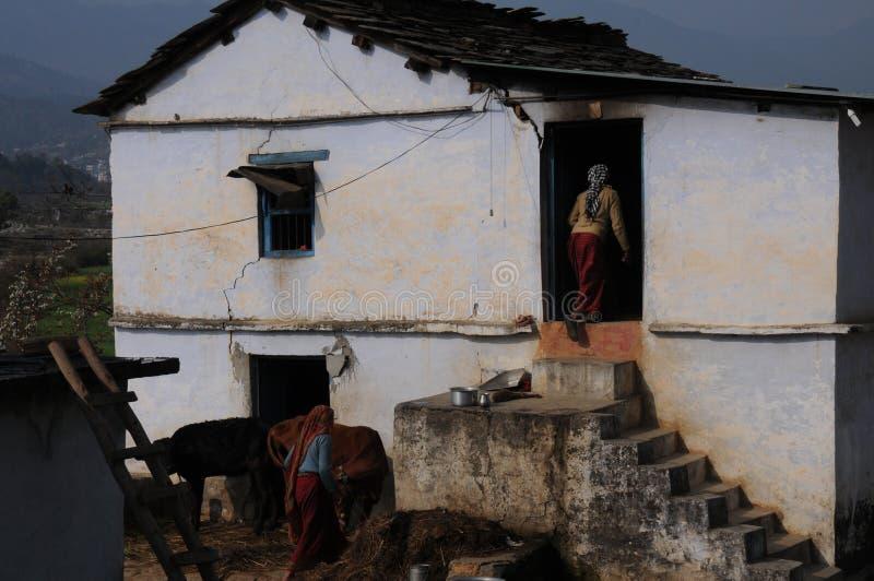 En koja på Kausani, Indien fotografering för bildbyråer