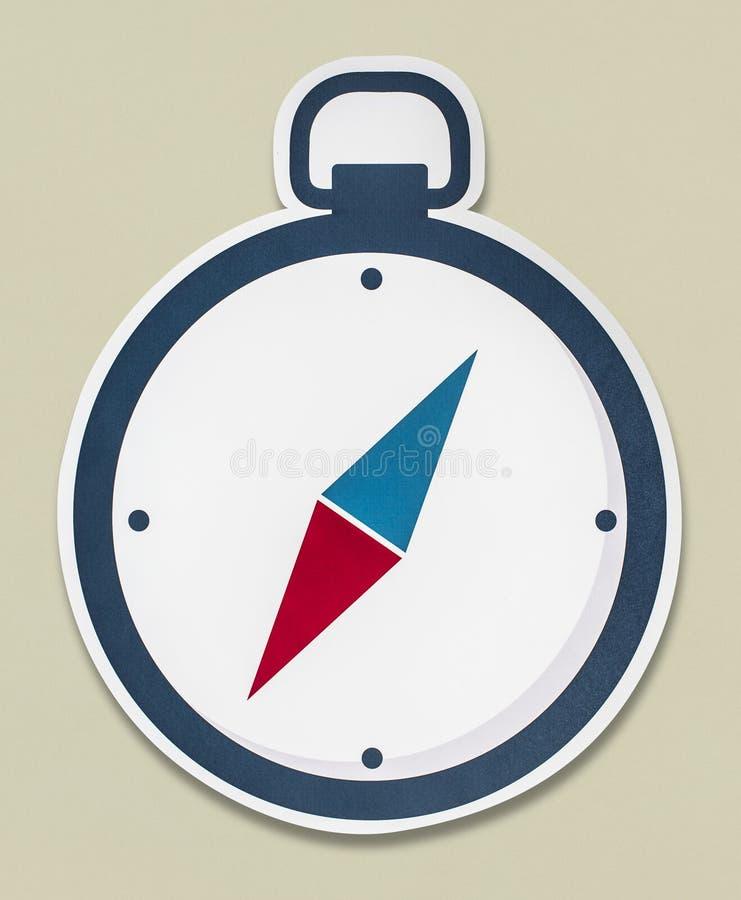 En kompass som isoleras på bakgrund royaltyfria bilder
