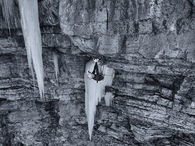 En kompetent klättrare i Vail, Colorado royaltyfri bild