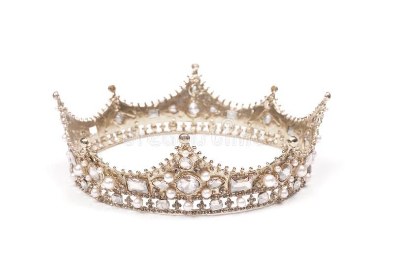En konung eller en Queenskrona arkivbild
