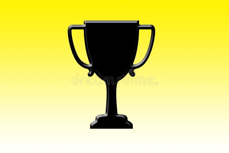 En kopp/trofé eller utmärkelse i en gul lutning royaltyfria bilder