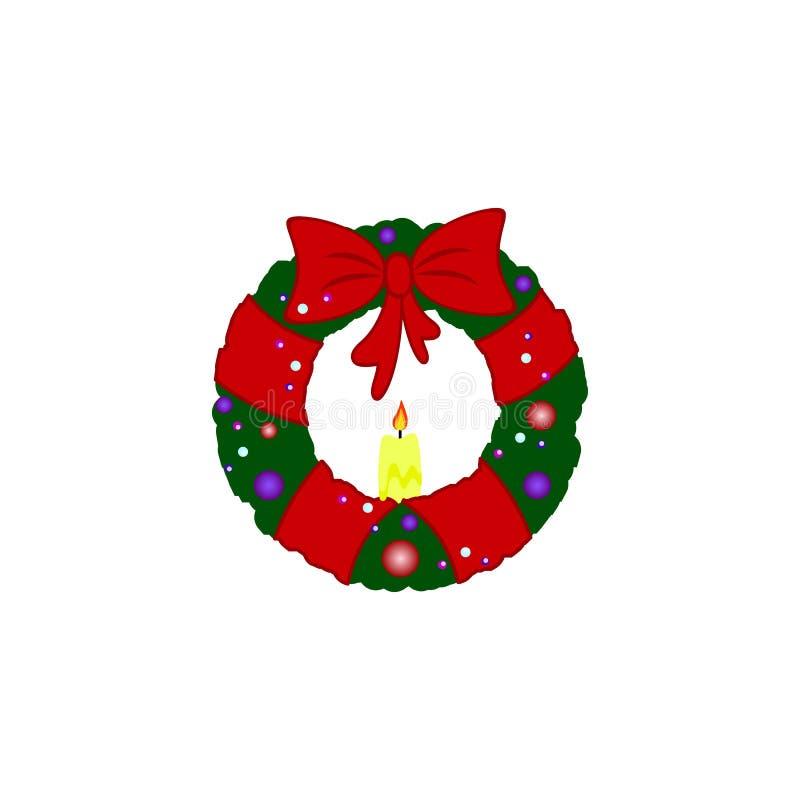 En krans för nytt år med pilbågesymboler royaltyfri illustrationer