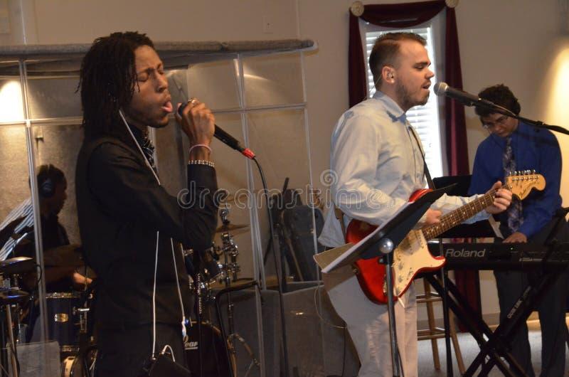 En kristen musikband royaltyfria foton