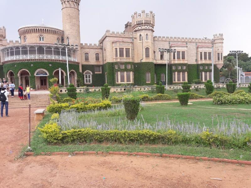 En kunglig palalce i Bangalore Indien royaltyfri fotografi