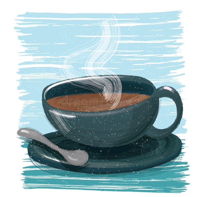 En kupa av kaffe royaltyfri illustrationer