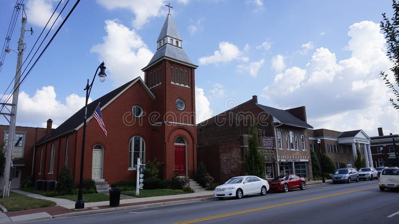 En kyrka i Bardstown royaltyfria foton