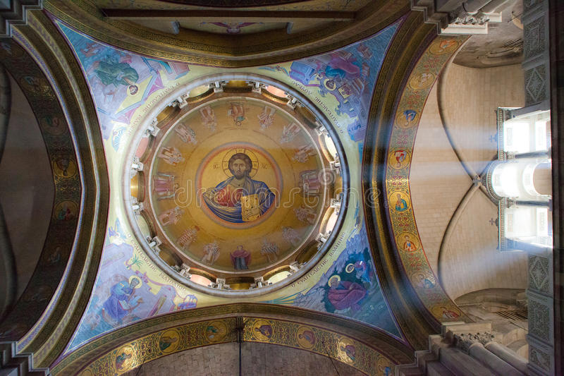 En kyrklig kupol royaltyfri bild