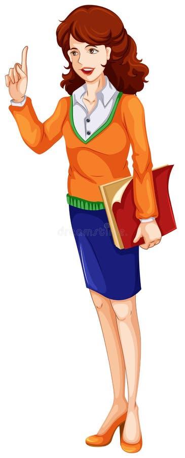 En lärare stock illustrationer