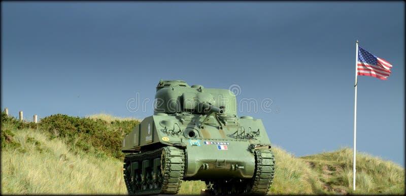 En lång dag i Normandie royaltyfri bild