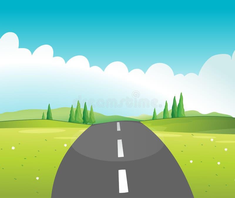 En lång väg vektor illustrationer