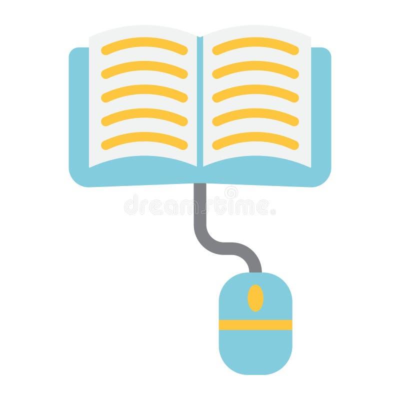 En línea aprendizaje del icono, de la educación y de Internet planos stock de ilustración