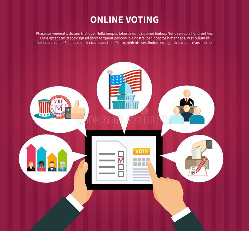 En línea votando en elecciones libre illustration