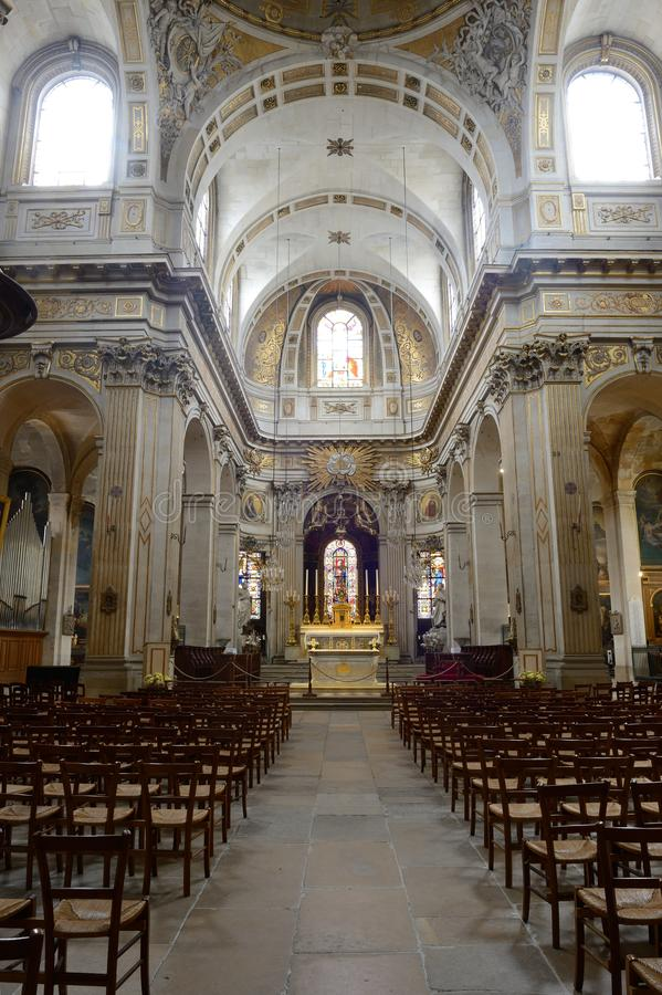 En l ?iglesia de Ile - Par?s de St. Louis fotografía de archivo