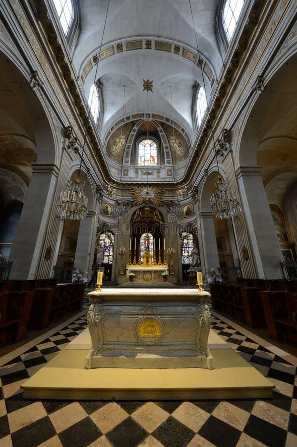 En l ?iglesia de Ile - Par?s de St. Louis foto de archivo libre de regalías